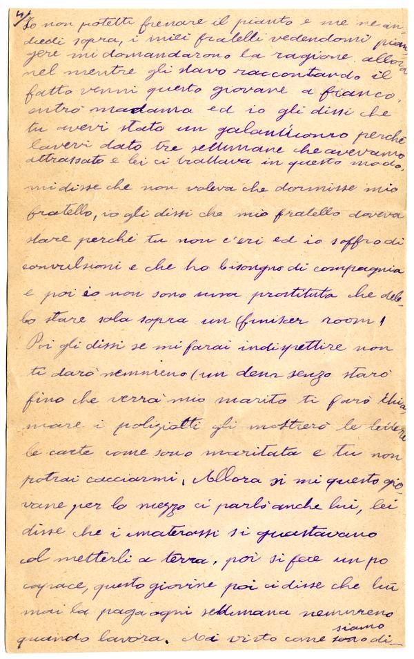 Lucia Fazio Cordiferro Letter To Alessandro Sisca Riccardo 1900 06 22