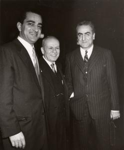 Dr. Philip Hitti and associates Charles Malik and Rafie Rasamny, November 20, 1954